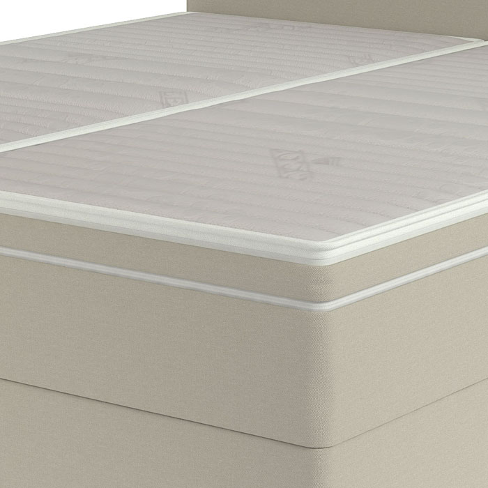 Lectus bed with attached topper
